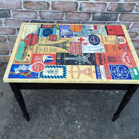 Decoupage Table Top - hometalk decoupage plain table for a new look