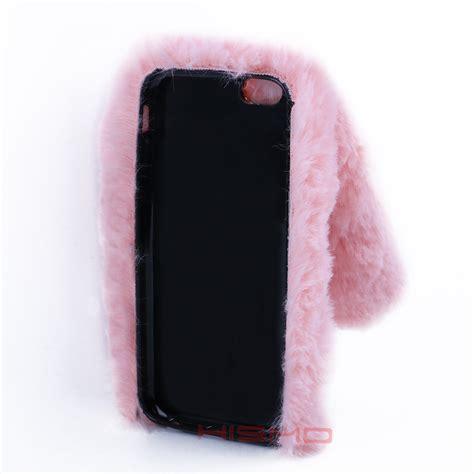 For Iphone 6 6s Rabbit Bunny Fluffy Fur Sof Berkualitas bunny shape rabbit fur soft tpu back cover