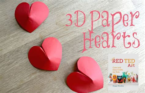 How To Make Paper Look 3d - how to make 3d paper hearts these look fantastic