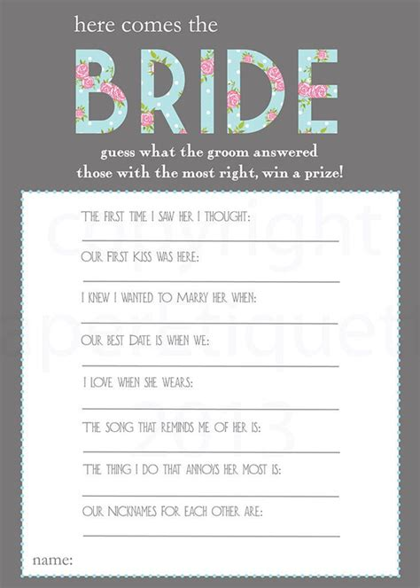 free printable unique bridal shower games 8 creative bridal shower games to have fun