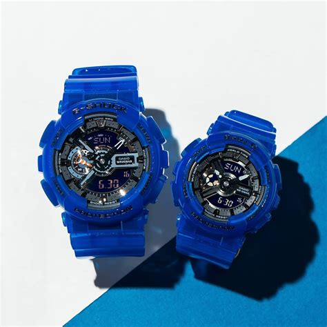 Baby G Ba 110 Blue g shock ga 110cr and baby g ba 110cr coral reef colors