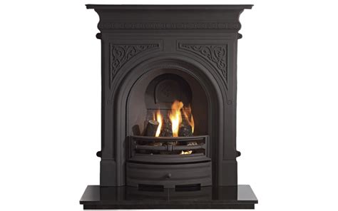cast iron electric fireplace celtic combination cast iron fireplace