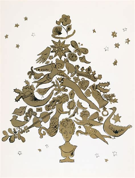 andy warhol gold christmas tree christmas pinterest