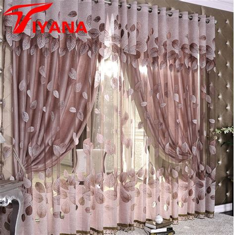 designer curtains luxury modern leaves designer curtain tulle window sheer