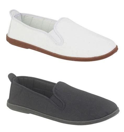 mens canvas espadrilles boat deck shoes pumps black white