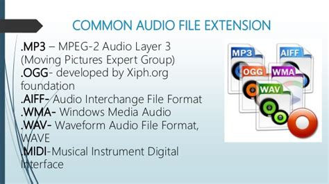 perbedaan format file audio computer file format extension