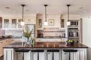 lights above kitchen island my houzz custom transitional home with view