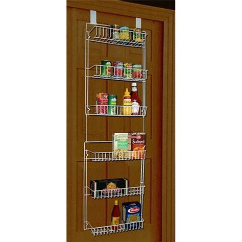 pantry door organizer storage dynamics 5 foot over the door rack organizer
