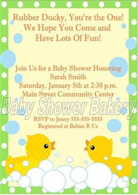 Rubber Ducky Themed Baby Shower Invitation Wording by 1000 Images About Baby Shower On Owl Baby