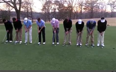 golfers trick shot video huffpost uk