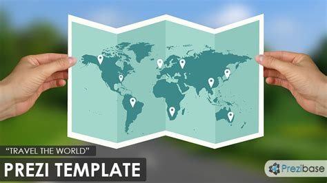 travel the world prezi template prezibase