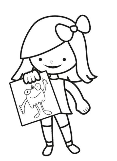 imagenes de ninas para dibujar lindos dibujos para pintar para ni 241 as peque 241 as creativas
