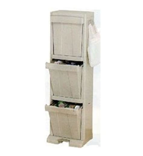 Kitchen Storage Ideas 3 tier recycling tower