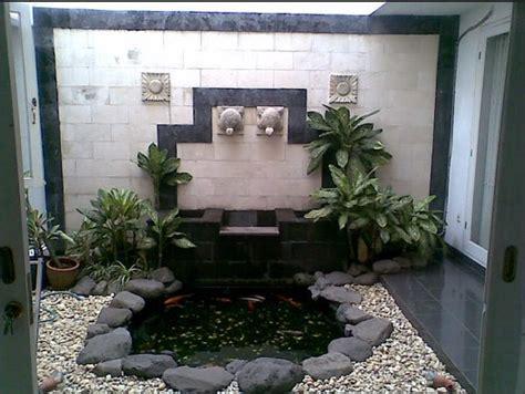 desain model taman dalam rumah minimalis modern rumah bagus minimalis