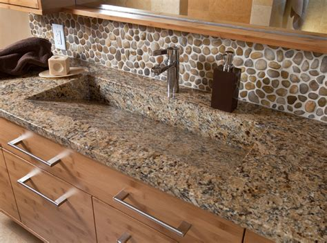 river rock backsplash for the home