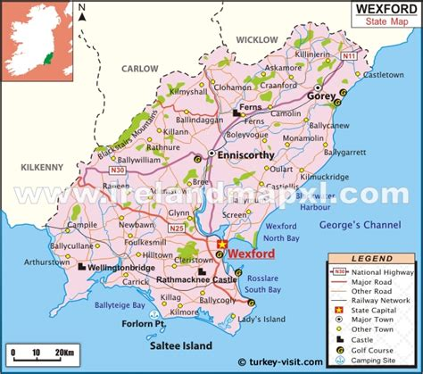 map of wexford town wexford karte