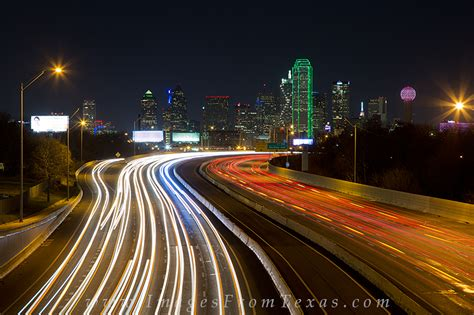 Bright Lights Fort Worth by Downtown Dallas Skyline At 1 Prints Images From