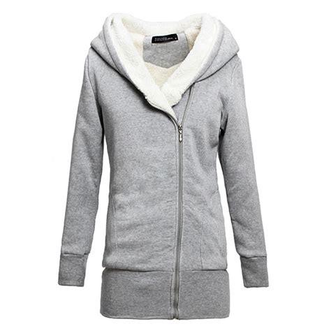 Jaket Zipper Hoodie Sweater Hitam 4 2015 womens hoodies winter autumn warm fleece cotton coat zip up outerwear hooded