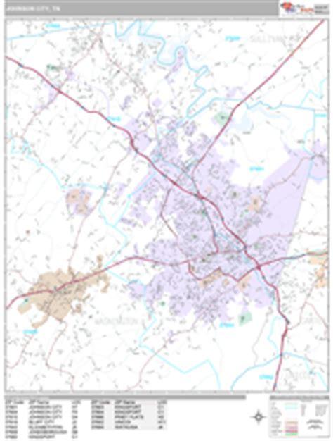 zip code map johnson city tn johnson city tennessee wall map premium style by marketmaps