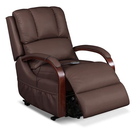 power recliner lift chairs ray bonded leather power lift recliner brown united