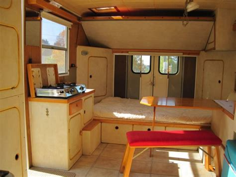 Gmc Motorhome Floor Plans by Work Van Converted Into Classy Motorhome Just 4500 Tiny