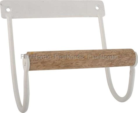 etagere ib laursen ib laursen toilet paper holder with wooden roll white