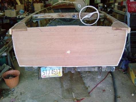boat transom knees new transom marine plywood glued to planks w 5200 new