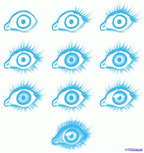 How to draw easy eyes step by step eyes people free online