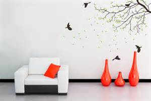 Living Room Wall Decals Stickers Wall Decal Nursery Wall Decal Birds Green Wall Decor