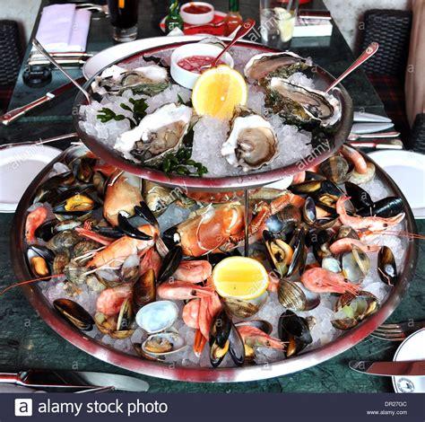fruit de mer plateau de fruits de mer sea food platter at a