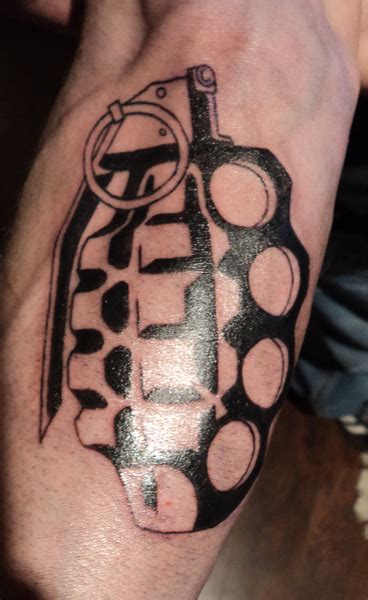 tattoo pictures of brass knuckles brass knuckles grenade wip by kiartia deviantart com on