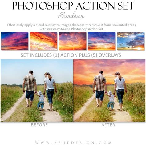 Ashe Design Photoshop Action Cloud Overlays Sundown Ashedesign Ashe Photoshop Templates