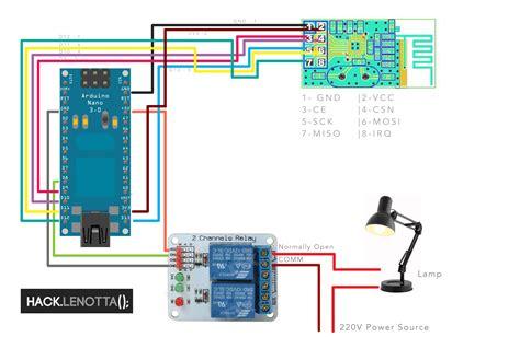 arduino raspberry pi switching light with nrf24l01