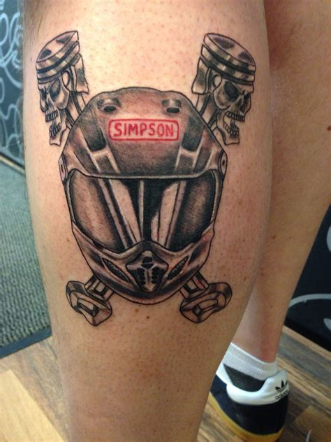 skull motocross helmet motocross helmet and skull pistons tattoos