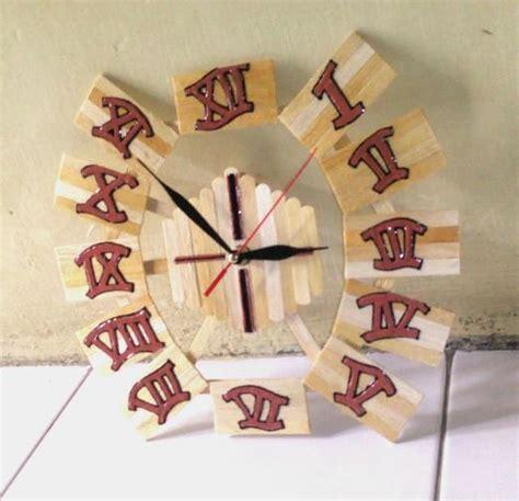 membuat jam dinding kreasi sendiri 7 ide dan cara membuat jam dinding dari stik es krim