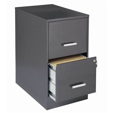 2 drawer letter file cabinet in charcoal 16871