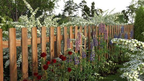 Flower Garden Fence Xfrog Beautiful Flowers Garden Fence
