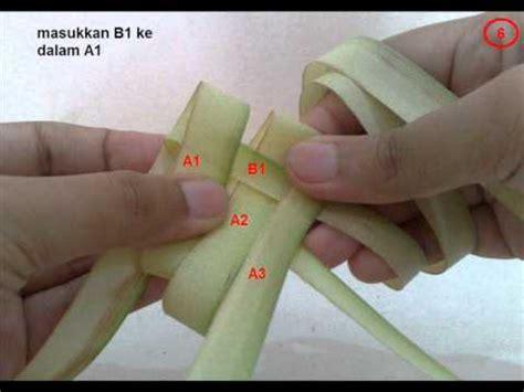 cara membuat bunga kertas yg mudah cara anyaman ketupat dengan sub title youtube