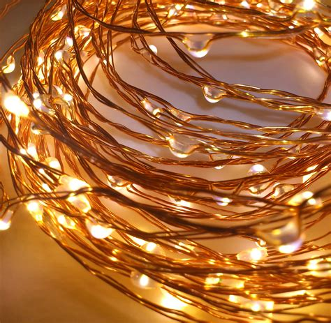 starry string lights on copper wire copper wire string lights qualizzi starry and string lights