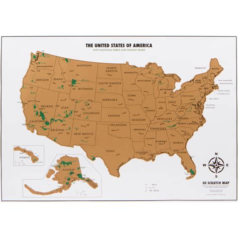 usa travel map usa national parks travel tracker map landmass goods