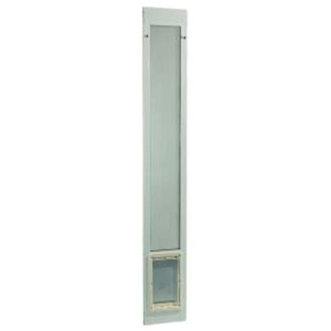 Home Depot Doggie Door Sliding Glass Ideal Pet 7 In X 11 25 In Medium White Aluminum Pet Patio Door Fits 77 6 In To 80 4 In