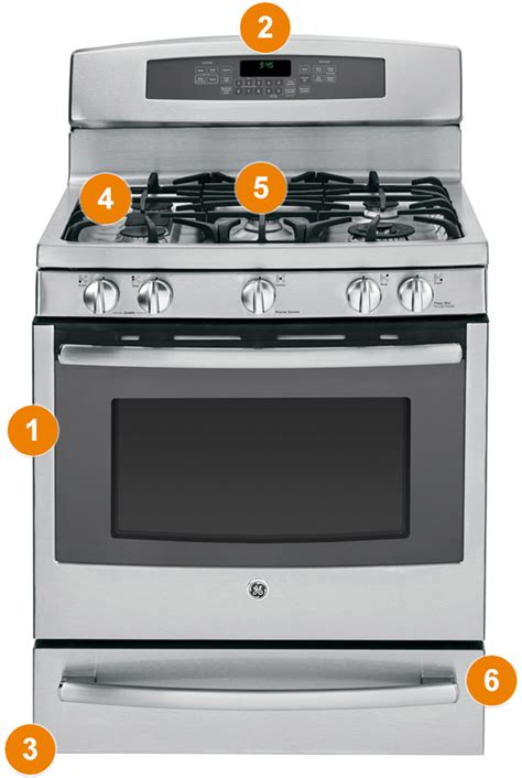 gas and electric range ge oven where to find model number on ge oven