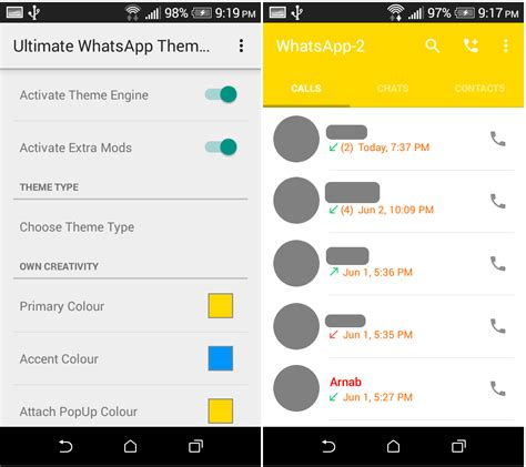ultimate themes for whatsapp download ultimate whatsapp theme engine pro