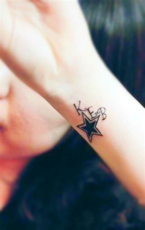 star tattoo designs wrist 40 stylish wrist initials tattoos