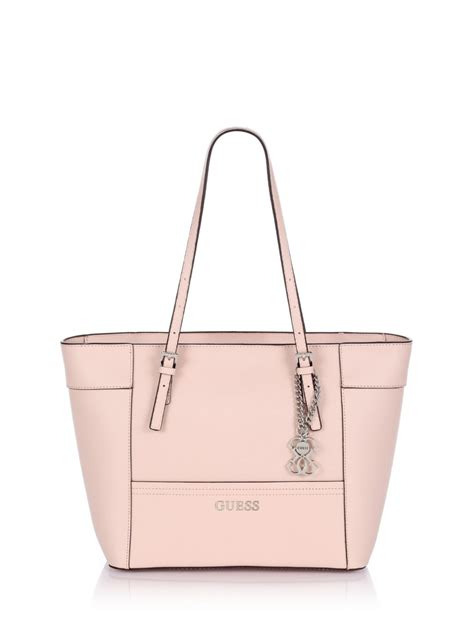 Tas Guess Delaney Mini Original Bag guess delaney small classic tote bag in pink lyst