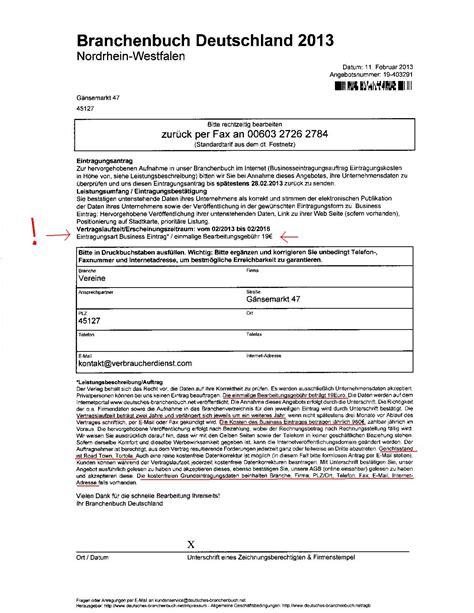 Anschreiben Deutschland Branchenbuch Deutschland 2013 Verbraucherdienst E V F 252 R Verbraucherschutz