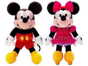 Mickey mouse amp minnie mouse amigurumi crochet pdf pattern in english