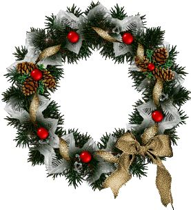 christmas wreaths graphic animated gif graphics