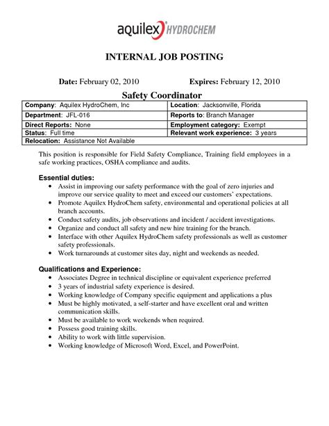 best photos of internal job posting template letter of