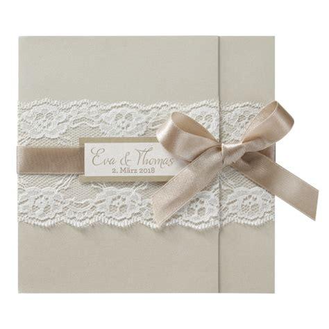 Hochzeitseinladung Jute by Einladungskarte Chagnerfarben Mit Romantischem